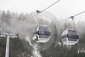 Gondola In Italian Dolomites Stock Image - Image: 8540411