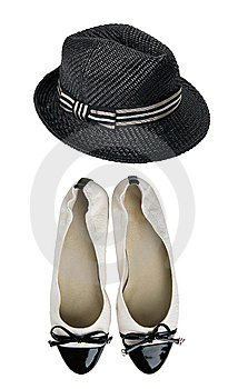 Shoes And Hat Royalty Free Stock Image - Image: 8540476