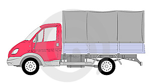 LKW Truck Tent Box Vector Royalty Free Stock Image - Image: 8540526