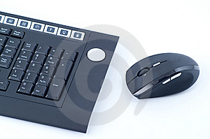 Wireless Keyboard With Mouse Stock Image - Image: 8540601