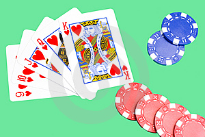 Straight Flush Royalty Free Stock Image - Image: 8540626