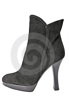 Black Boot Royalty Free Stock Photo - Image: 8540665