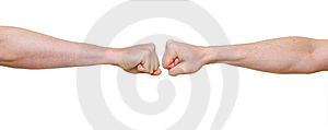 Two Fists In Confrontation Royalty Free Stock Photography - Image: 8540767