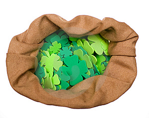 Craft Shamrocks On White Stock Photo - Image: 8540780