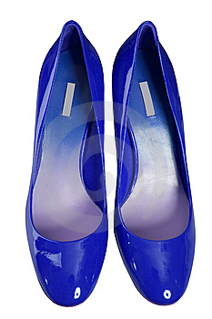 Blue Shoes Royalty Free Stock Photo - Image: 8540785