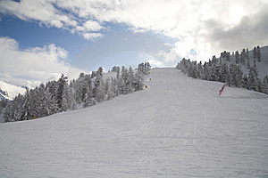 Ski Slope In Italian Dolomites Royalty Free Stock Photos - Image: 8540788