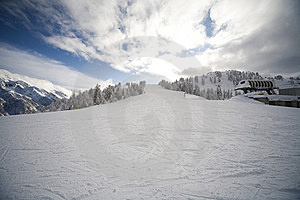 Ski Slope In Italian Dolomites Royalty Free Stock Photography - Image: 8540807