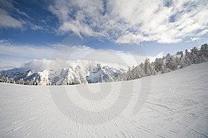 Ski Slope In Italian Dolomites Royalty Free Stock Images - Image: 8540819