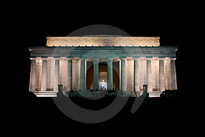 Lincoln Memorial - Night Royalty Free Stock Images - Image: 8540899