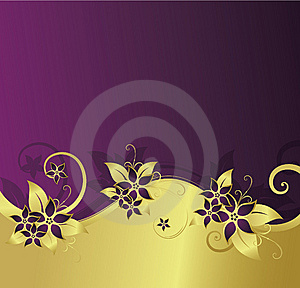 Golden Floral Background Royalty Free Stock Image - Image: 8541106