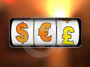 Währungsjackpot Stockfotografie - Bild: 8541212