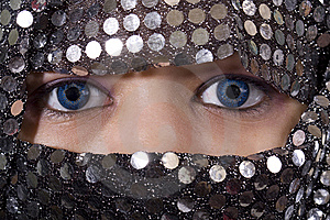 Blue Eyes Orient Royalty Free Stock Image - Image: 8541416