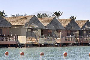 Lagoon Front Cabins - Red Sea (Egypt) Royalty Free Stock Images - Image: 8541479