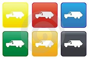 Dumper Truck Web Button Royalty Free Stock Photos - Image: 8542148