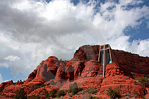 Church On The Rocks Royalty Free Stock Images - Image: 8542279