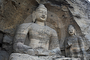Stone Carving Of Yungang Grottoes Royalty Free Stock Photos - Image: 8543478