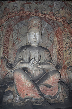 China/Shanxi: Stone Carving Of Yungang Grottoes Stock Image - Image: 8543491