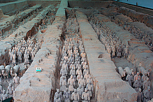 China/Xian:Terracotta Warriors And Horses Royalty Free Stock Image - Image: 8543546