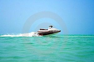 Empty Water Scooter Speeding Stock Image - Image: 8543671