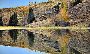 Hill Reflection Royalty Free Stock Photo - Image: 8543705