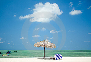 Beach On Tropical  Island Stock Image - Image: 8543721
