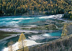 China/Xinjiang: Lying Dragon Bay In Kanas Royalty Free Stock Image - Image: 8544286