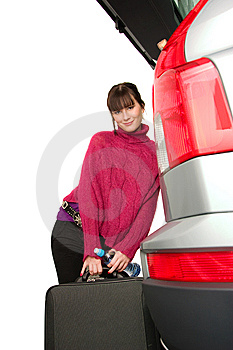 Pretty Women And Car Stock Photos - Image: 8544443