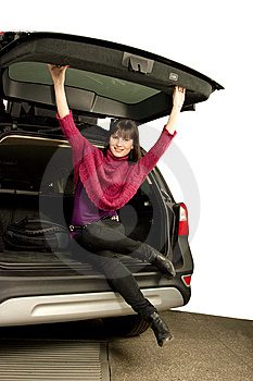Pretty Women And Car Stock Photos - Image: 8544493