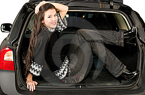 Pretty Women And Car Stock Photography - Image: 8544552