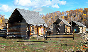 China/Xinjiang: Cabins In Hemu Village Royalty Free Stock Photo - Image: 8544765