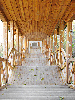 Covered Wooden Passage Royalty Free Stock Photography - Image: 8544927