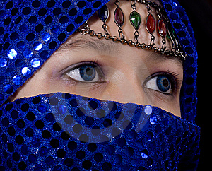 Blue Eyes Orient Stock Image - Image: 8545101