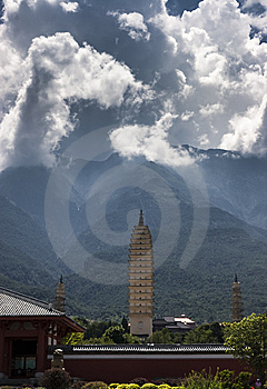 Dali Three Pagodas Royalty Free Stock Photo - Image: 8545255