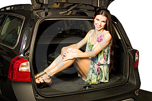 Girl And Car Royalty Free Stock Images - Image: 8545409