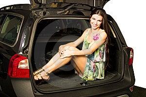 Samochodowa Dziewczyna Obrazy Royalty Free - Obraz: 8545409