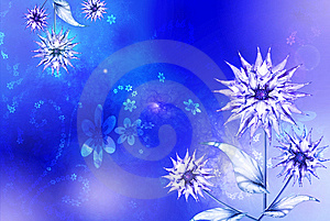 Blue Asters Background Royalty Free Stock Images - Image: 8545749