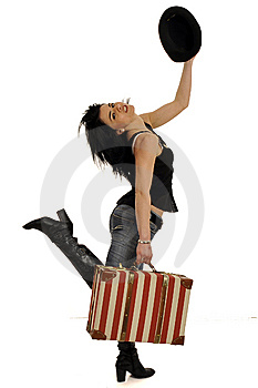 Woman With Suitcase Royalty Free Stock Photography - Image: 8545777