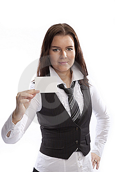 Young Business Woman Stock Image - Image: 8547041