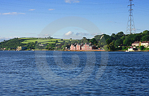 Landscape With Mansion Near Sea Shore Royalty Free Stock Photography - Image: 8547067