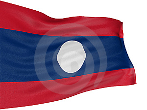 3D Flag Of Laos Royalty Free Stock Photo - Image: 8547295