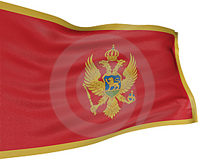 3D Montenegro Flag Stock Photography - Image: 8547422