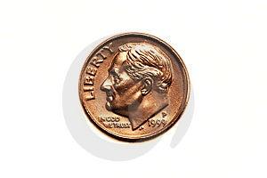 American Dime Stock Image - Image: 8547451