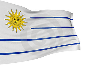 3D Uruguayan Flag Stock Photo - Image: 8547980