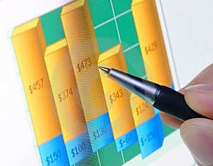 Financial Graph Royalty Free Stock Image - Image: 8548036