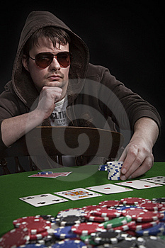 Man Playing Poker Stock Photography - Image: 8549032