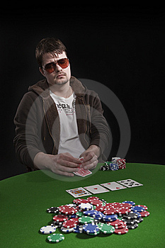 Man Playing Poker Stock Photo - Image: 8549300