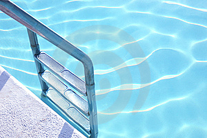 Fragment Of Pool With A Ladder And  Water Stock Photography - Image: 8549482
