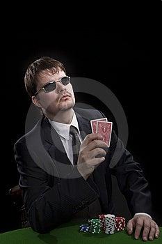 Man Playing Poker Royalty Free Stock Images - Image: 8549509