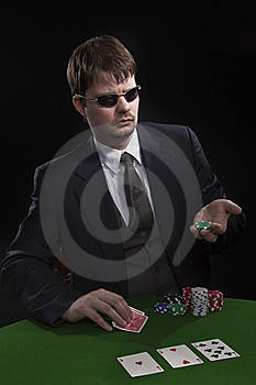 Man Playing Poker Stock Image - Image: 8549531