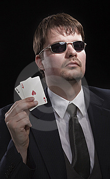 Man Playing Poker Royalty Free Stock Photo - Image: 8549675